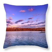 April Evening At The Lake Throw Pillow