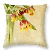 April Flowers Throw Pillow