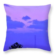 April Full Moon Over Adelaide Throw Pillow