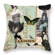 April In Paris Throw Pillow