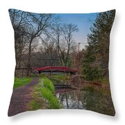 April In Washingtons Crossing Throw Pillow