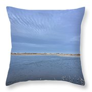 April Snows Approach Throw Pillow