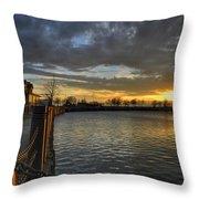 April Sunsets Throw Pillow