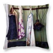 Aprons And Feather Duster Throw Pillow