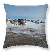 Apusiaquik Glacier Greenalnd Pano 7334-7351 Throw Pillow