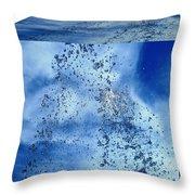 Aqua Art Cube Throw Pillow