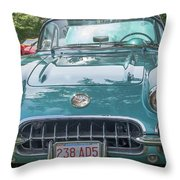 Aqua Blue 1959 Corvette  Throw Pillow