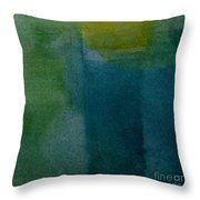 Aqua Blue - Abstract Throw Pillow