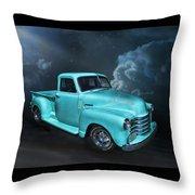 Aqua Blues Throw Pillow