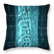 Aqua Drapes Throw Pillow