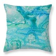 Aqua Dream Throw Pillow