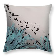 Aqua Impulse Throw Pillow