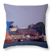Aqua In Dock Throw Pillow