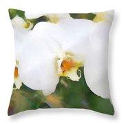 Aqua Lilies Throw Pillow