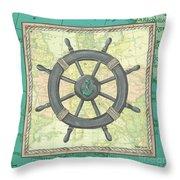 Aqua Maritime Throw Pillow