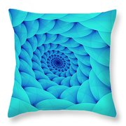 Aqua Pillow Vortex Throw Pillow