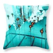 Aqua Reflections Throw Pillow
