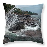 Aqua Shore Throw Pillow