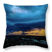 Aqua Skies Throw Pillow