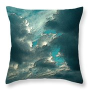Aqua Sky Throw Pillow