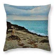 Aqua Surf Throw Pillow