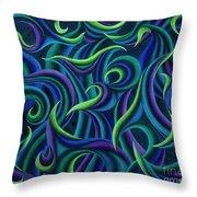 Aqua Tango Throw Pillow