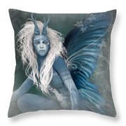 Aqua The Forest Fairy2 Throw Pillow