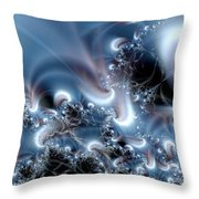 Aquafractal Throw Pillow