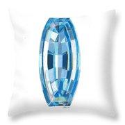 Aquamarine Facet Throw Pillow
