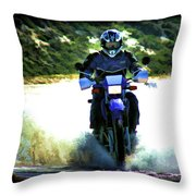 Aquaplaning Throw Pillow