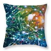 Aquarium Galaxy Throw Pillow
