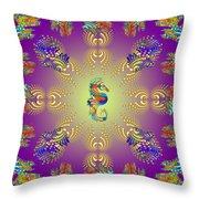 Aquarium Glow Purple Throw Pillow