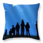 Aquarium Silhouettes Throw Pillow