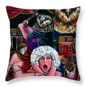 Aquarius Stage Fright Throw Pillow