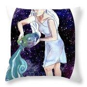 Aquarius Water Bearer Throw Pillow