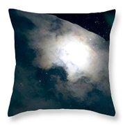Aquatic Leaf Galaxy  Throw Pillow