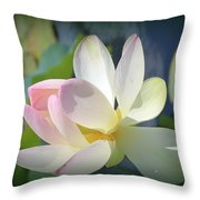 Aquatic Nymph - Waterlily Throw Pillow