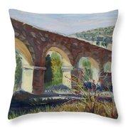 Aqueduct Near Pedraza Throw Pillow