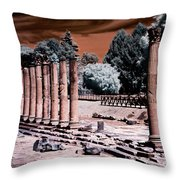 Aquileia, Roman Forum Throw Pillow by Helga Novelli