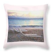 Aruba Beach Sunset Throw Pillow