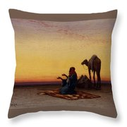 Arab At Prayer Throw Pillow