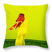 Arab Blown By The Wind  Throw Pillow