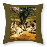 Arab Chieftains In Council  Throw Pillow