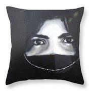 Arab Girl Throw Pillow