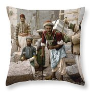 Arab Stonemasons, C1900 - To License For Professional Use Visit Granger.com Throw Pillow