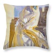 Arab Woman Throw Pillow