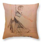 Arabesque On Pointe Throw Pillow