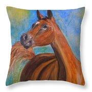 Arabian Beauty Throw Pillow