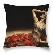 Arabian Coffee Awakes Throw Pillow