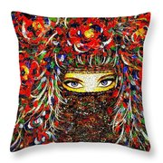Arabian Eyes Throw Pillow